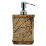 Brown Forest Marble Soap Dispenser - 3 x 2.5 x 5 inches - Jodhshop