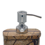 Brown Forest Marble Soap Dispenser - 3 x 2.5 x 5 inches - Jodhpuri Online