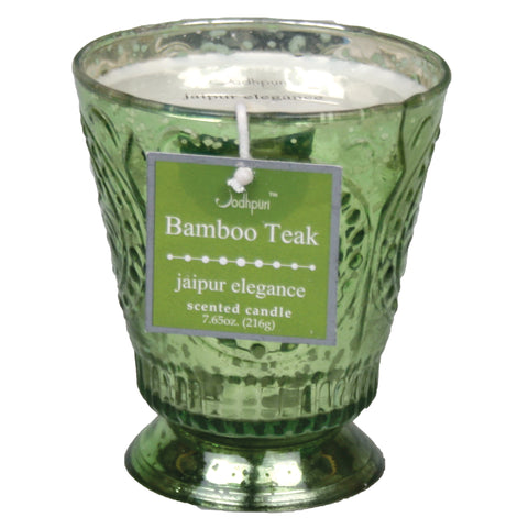 Bambook Teak Scented Jaipur Candle - 7.65 ounces - Jodhshop