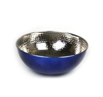 Blue Stainless Steel Serving Bowl - 10 inches - Jodhshop