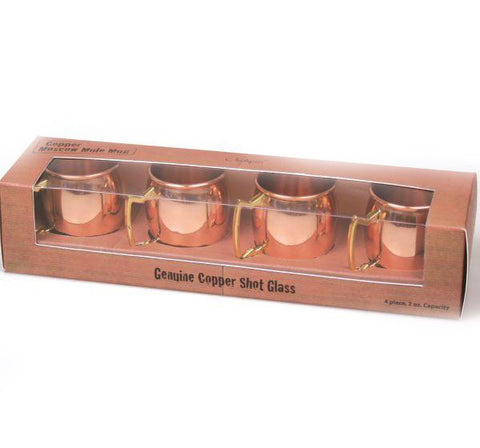 Mini Moscow Mule Shot Mugs - Set of 4 - Jodhpuri Online