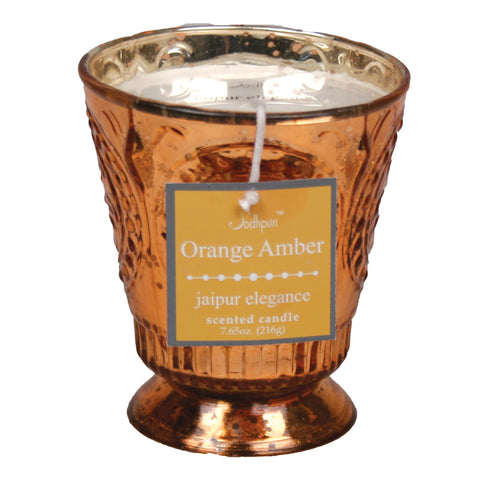 Orange Amber Scented Jaipur Candle - 7.65 ounces - Jodhshop