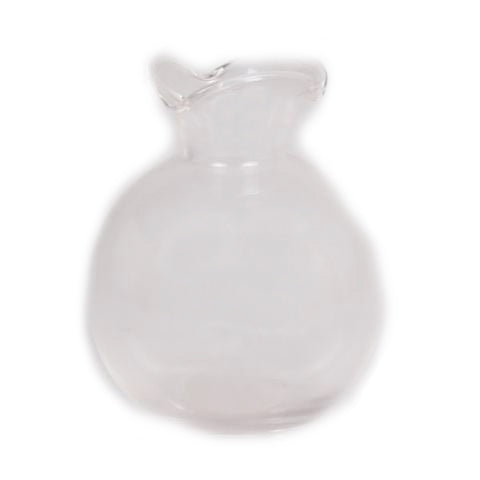Scallop Clear Vase - 4 x 4 x 5 inches - Jodhshop