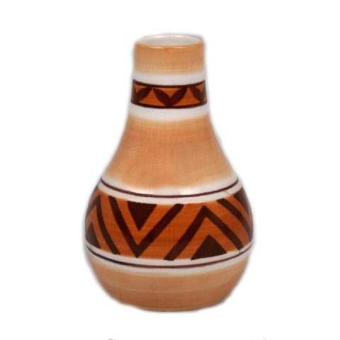 Brown Ceramic Vase - 2.75 x 4.5 inches - Jodhshop