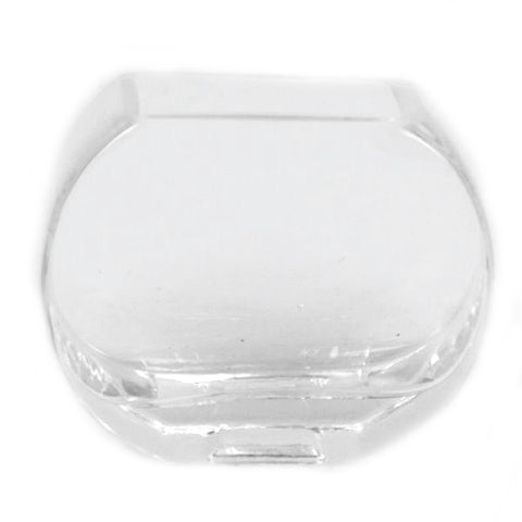 Semi-Circular Clear Glass Vase - Jodhshop