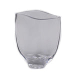 Short Curve Clear Glass Vase - Jodhshop
