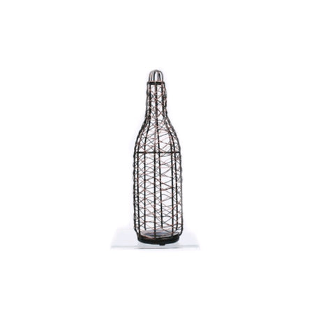 Wire Formed Wine Bottle - Jodhshop