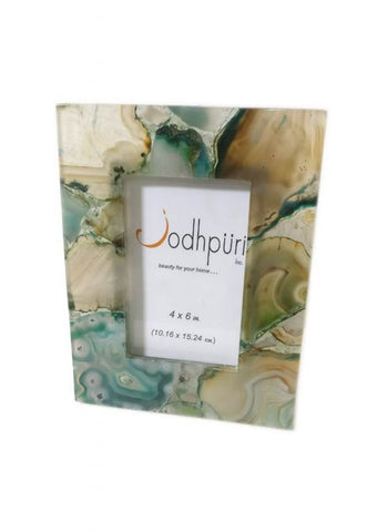 Aqua Agate Picture Frame - 4 x 6 inches - Jodhshop