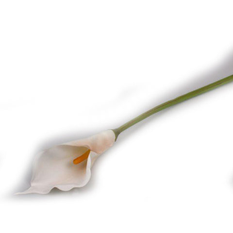 """Butter Cream"" Golden Arum Lily Artificial Floral Stems - Jodhshop"