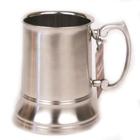 Stainless Steel Beer Tankard with Matte Finish - 16 oz - Jodhshop