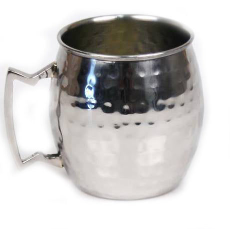 Hammered Stainless Steel Moscow Mule Mugs - 16 oz - Jodhshop