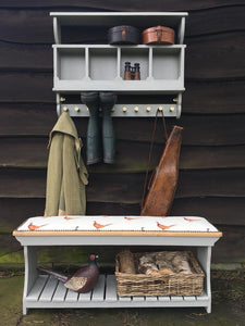 Pigeon Hole Country Boot/Coat Hooks.