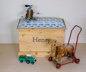 On The Farm Personalised Toy Box