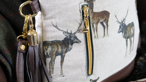 Stag Faux Leather Handbag