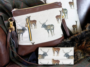 Stag Leather Handmade Purse