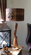 Load image into Gallery viewer, Oak Based Gun Table Lamp