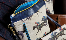 Load image into Gallery viewer, Horse Racing Faux Leather Handbag