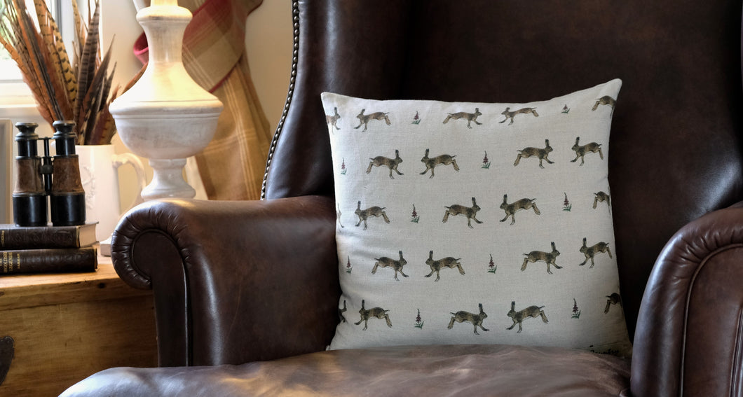 Hare Cushion Cover