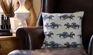 Horse Racing Cushion Cover