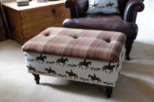 Load image into Gallery viewer, Large Master of Hounds Storage Footstool