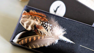 Gamebird feather Lapel Pin