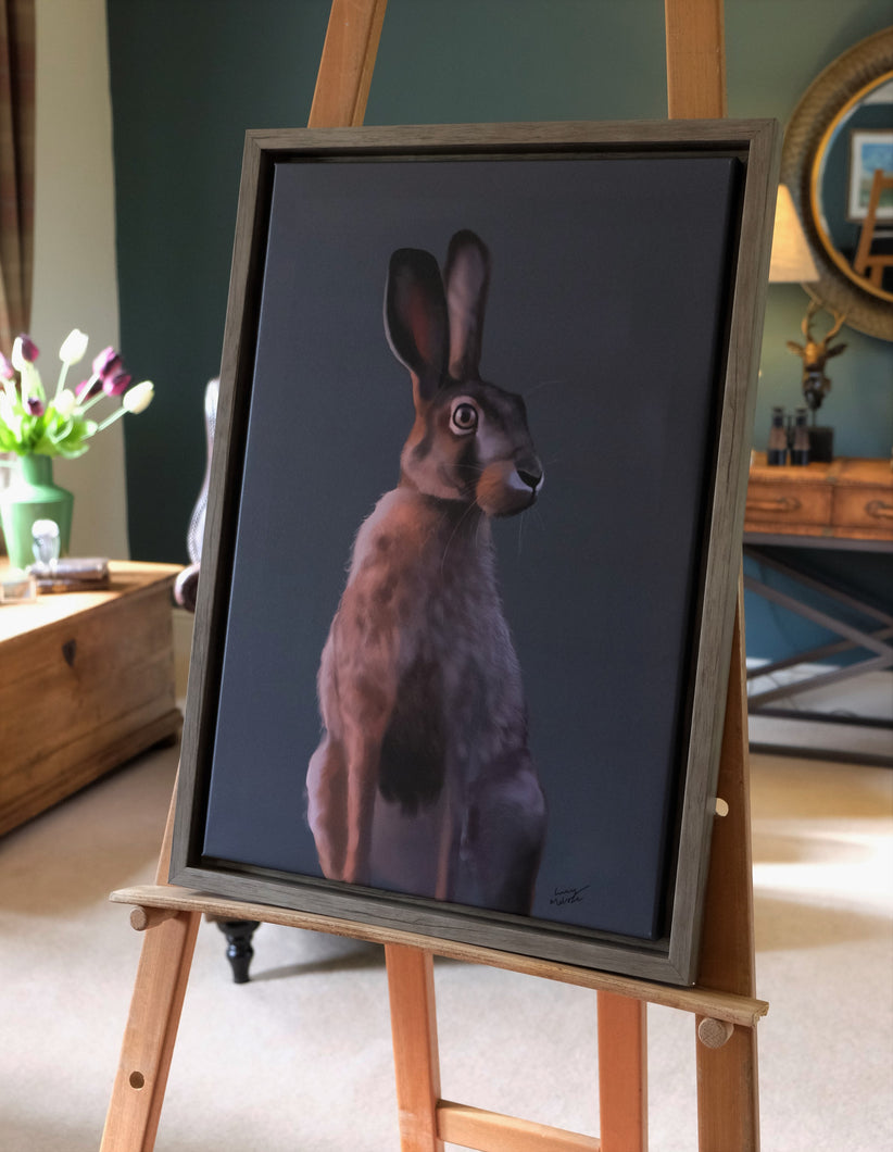 Large Summer Hare Framed Picture.