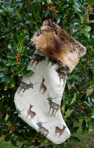 Stag Christmas Stocking