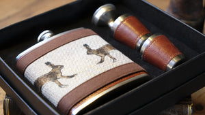 Hare Hip Flask Set.