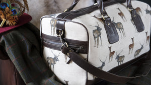 Leather Stag Weekend Bag