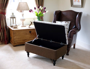 Large Hare Storage Footstool