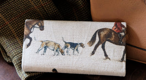 Master of Hounds Leather Handmade Purse