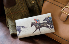 Load image into Gallery viewer, Horse racing Leather Handmade Purse