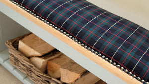 Cornish Tartan Grey Boot Rack Bench