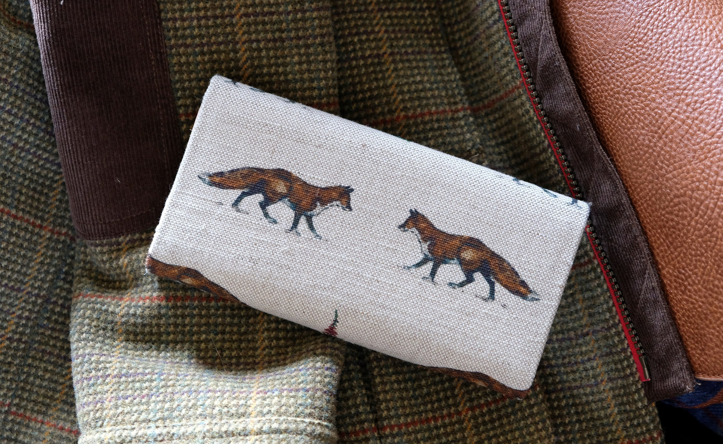 Fox Leather Handmade Purse