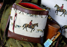 Load image into Gallery viewer, Master of Hounds Faux Leather Handbag.