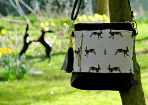 Hare Faux Leather Handbag.