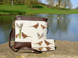 Pheasant Leather Handmade Purse