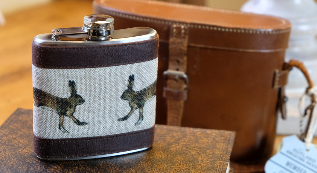 Hare Hip Flask.