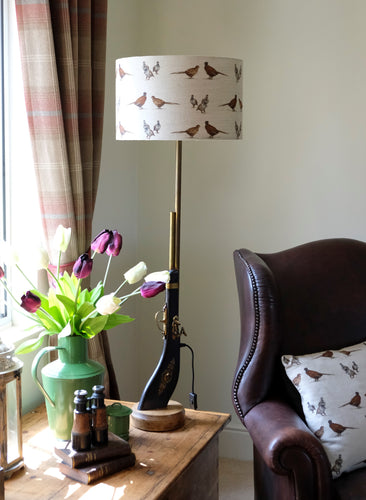 Gamebird Gun Tall Table Lamp.