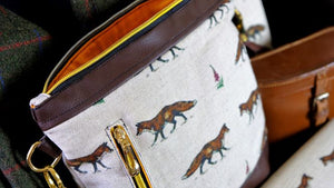 Fox Faux Leather Handbag