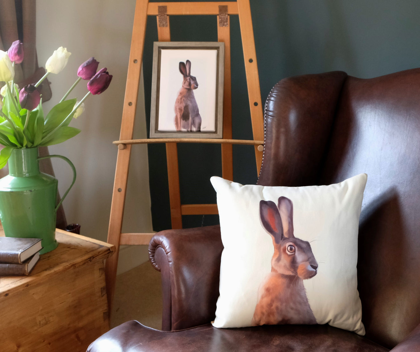 White Hare Cushion