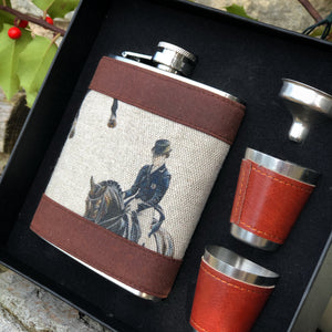 Dressage Hip Flask Set.