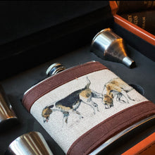 Load image into Gallery viewer, Hound Hip Flask Set In Case