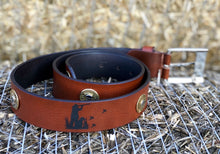 Load image into Gallery viewer, Pheasant Shooting Leather Belt.