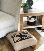 Load image into Gallery viewer, Hunting Scene Silhouette Footstool