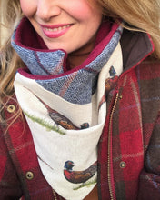 Load image into Gallery viewer, Foraging Pheasant Neck Warmer Scarf