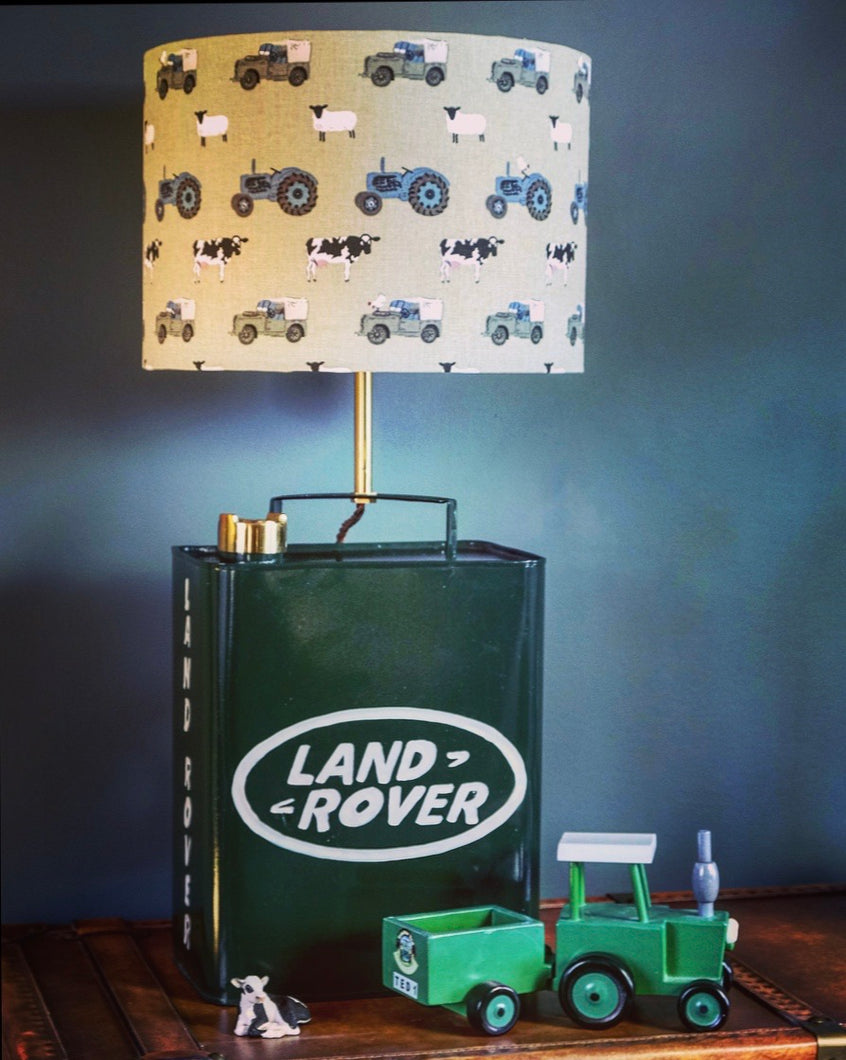 Land Rover Oil Can Lamp & Shade