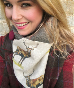 Stag Neck Warmer Scarf