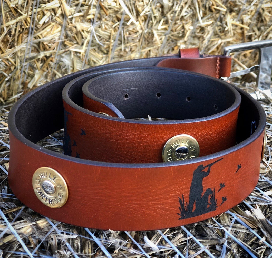 Pheasant Shooting Leather Belt.