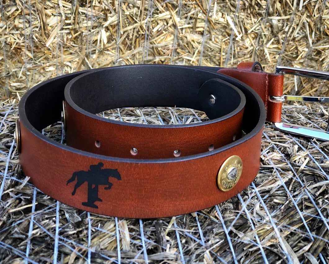 Horse Jumping Leather Belt.